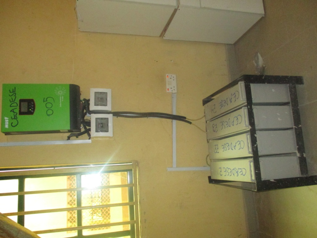 Inverter & its batteries_Environmental Systems Laboratory at the Environmental Management and Toxicology Dept.2
