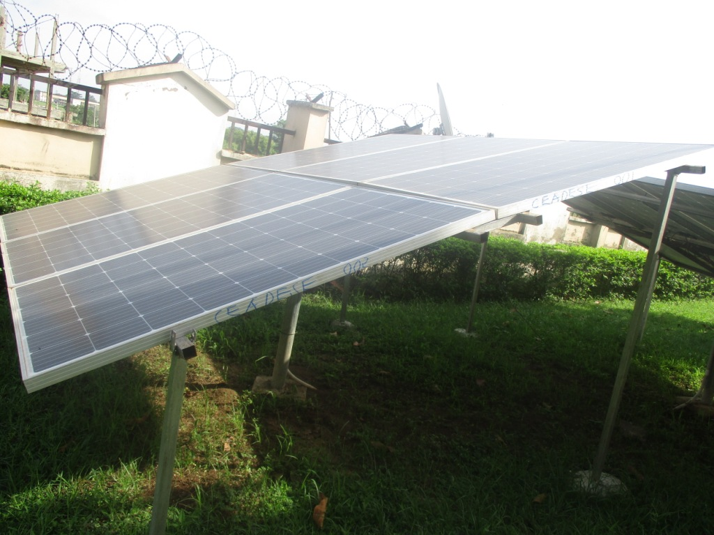 Solar Panel for Inverters at the CEADESE Administrative Building