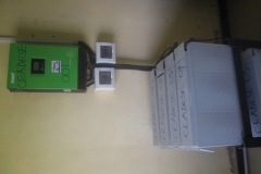 Inverter & its batteries at the CEADESE Administrative Building