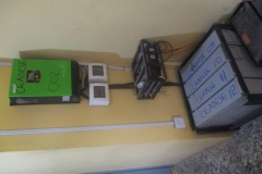Inverter & its batteries at the CEADESE Postgraduate Hostel Building