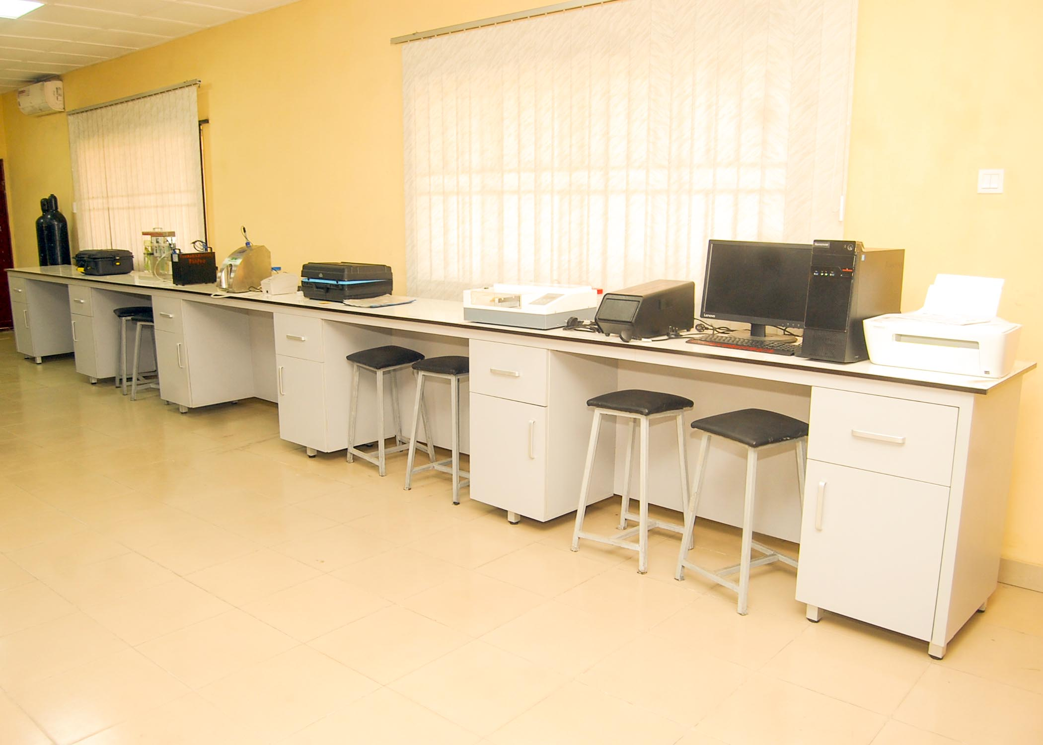 A part of interior view of the Laboratory