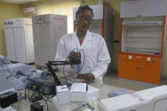 Laboratory Scientist working with pH Meter in the Central Laboratory