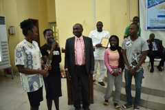 Presentation of Award to Students at the Learning Technology Workshop