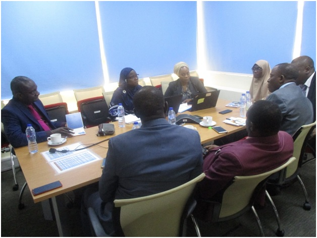 Brainstorming session at World Bank office , Abuja between CEADESE team and Ms. Aisha Garba Mohammed with another World Bank Consultant