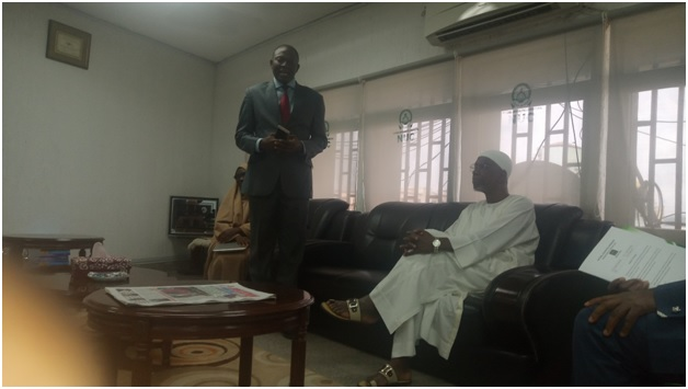 Director CEADESE, Prof. Olukayode Akinyemi with Executive Secretary, NUC, Prof. Abubakar Rasheed