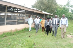 Prof. F. K. Salako on Visitation to CEADESE Poultry House